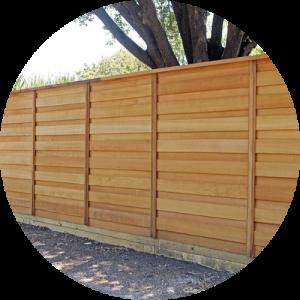wood privacy fence Newport Beach california